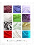 In Stock Fabric Swatches -- Stretch Satin Swatch