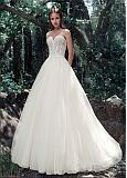 Stunning Tulle & Satin Sweetheart Neckline A-Line Wedding Dresses With Embroidery