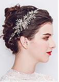 In Stock Fascinating Wedding Hair Ornament With Pearls & Rhinestones